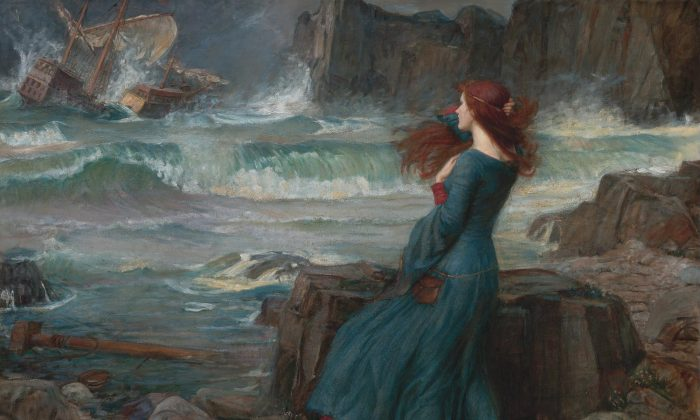 """Mystery and wonder are at the very root of human existence.  """"Miranda,""""1916, by John William Waterhouse. Oil on canvas. (Public Domain)"""