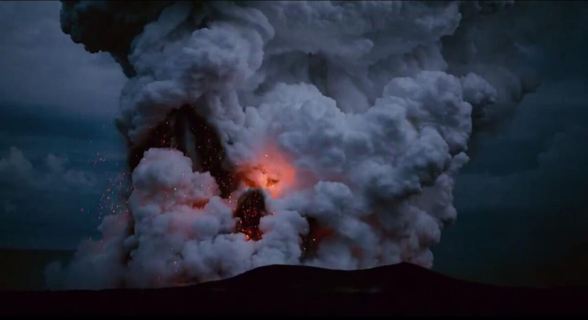 """Volcano explosion in """"The Tree of Life"""""""