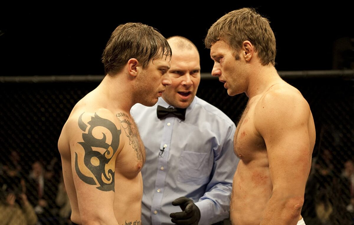 """two fighters and referee in """"Warrior"""""""
