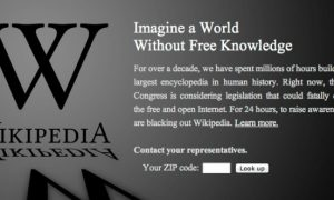 Wikipedia, Reddit, Other Sites Blackout Over SOPA