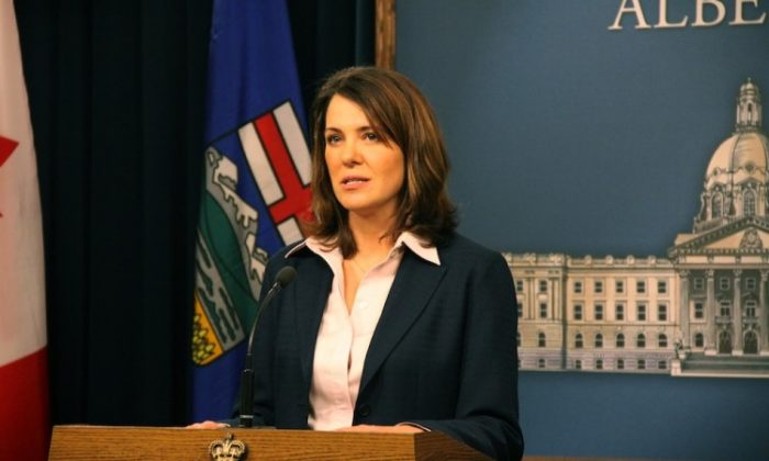 "File photo of Wildrose leader Danielle Smith. Smith says the decision of Alberta's culture minister to cancel the Shen Yun Performing Arts shows after the local hosting organization went public about unprofessional treatment at the hands of Southern Alberta Jubilee Auditorium management is an example of PC ""bullying."" (Dave Cournoyer/Wikimedia Commons)"