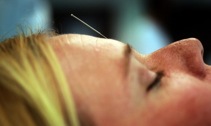 Getting diagnosed with breast cancer is a stressful experience that can often be helped with alternative treatments such as acupuncture.(Joe Raedle/Getty Images)