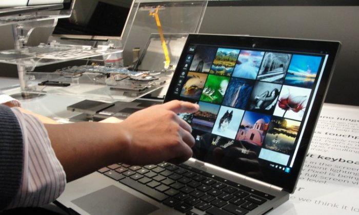 A Google Chromebook Pixel is on display on February 21, 2013 in San Francisco. (GLENN CHAPMAN/AFP/Getty Images)