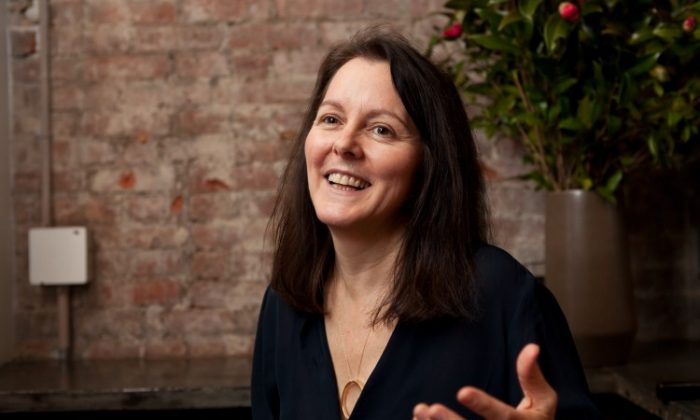 Dawn Barber, co-founder of NY Tech Meetup, talks tech and life in general on Jan. 30. (Samira Bouaou/The Epoch Times)