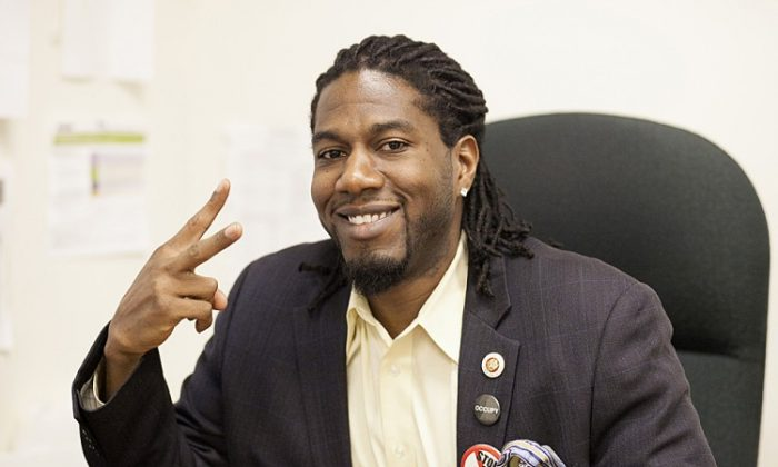 Council member Jumaane Williams at his City Hall office in Lower Manhattan on Feb. 11. (Deborah Yun/The Epoch Times)