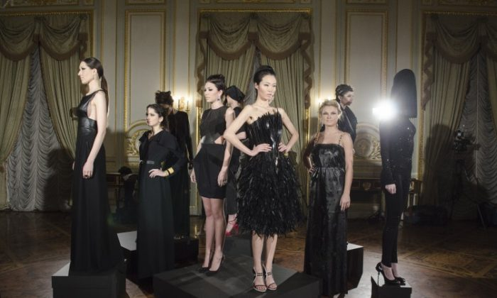 Models pose during the Russian Fashion Industry Presentation and Reception at the Consulate General of the Russian Federation on Feb. 6, 2013, in New York City. (By Kris Connor/Getty Images)