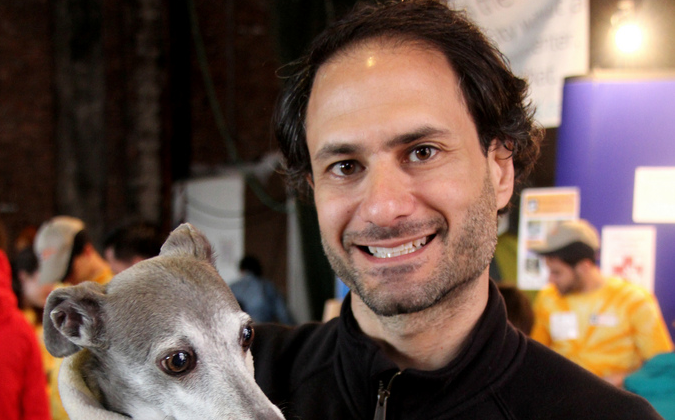 Anthony Newman, owner of Calm Energy Dog Training, with Artie. (Photo courtesy of Calm Energy Dog Training)