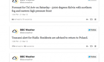'Syrian Electronic Army' Hacks BBC Weather Twitter Account