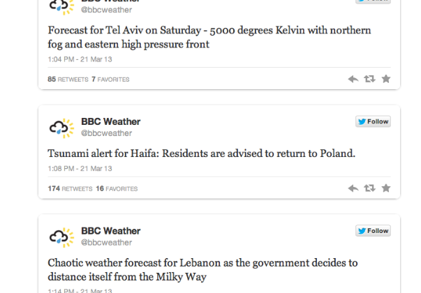 Syrian Electronic Army' Hacks BBC Weather Twitter Account