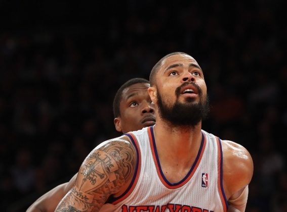 Lost in the aftermath of Stephen Curry's 54-point outing against the Knicks, was Tyson Chandler's 28 rebounds. (Bruce Bennett/Getty Images)