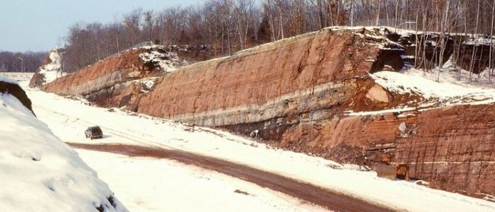 Back to the future? Ancient rocks in Hartford Basin, Conn., offer a look into geologic time. (Terrence Blackburn and Paul Olsen)