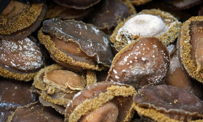 View of dried abalone that was seized by the Ministry of Agriculture, Forestry and Fisheries in South Africa in March 2012 (RODGER BOSCH/AFP/Getty Images)