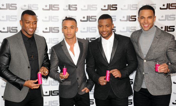 Boy band JLS at a launch event in London. The band has announced it will split after a goodbye tour in December (Stuart Wilson/Getty Images)