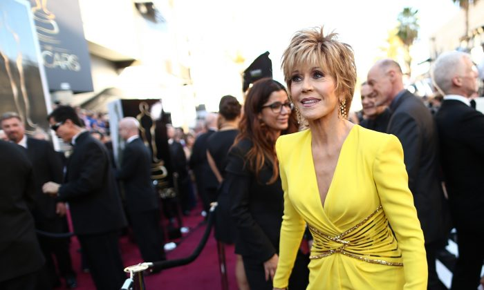 Actress Jane Fonda arrives at the Oscars held at Hollywood & Highland Center in Hollywood, Calif., on Feb. 24, 2013. (Christopher Polk/Getty Images)