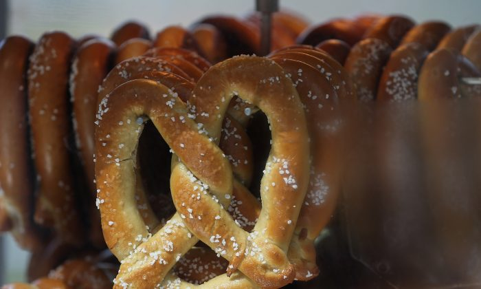 Pretzels are for sale at a stand before the Opening Day game between the Chicago White Sox and the Kansas City Royals during the Opening Day game at U.S. (Jonathan Daniel/Getty Images)
