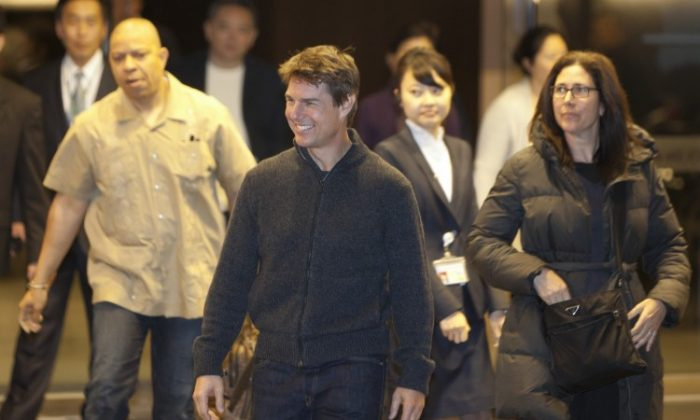 Tom Cruise at an airport on April 5, 2013 in Taipei, Taiwan. (Ashley Pon/Getty Images)