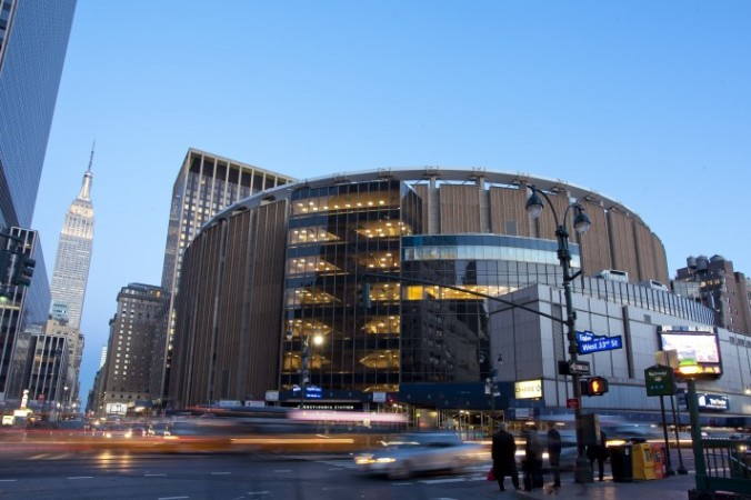 Madison Square Garden from 8th Ave. and 33rd St., April 3. (Samira Bouaou/Epoch Times)
