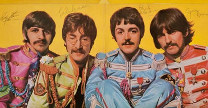 A photo of the signed cover of the Beatles's Sgt. Pepper's Lonely Hearts Club Band album posted on the auction website Heritage Auctions. The album fetched $290,500 with 18 bidders on March 30, 2013. (Screenshot via The Epoch Times)