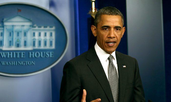 U.S. President Barack Obama speaking at the White House April 16. (Mark Wilson/Getty Images)