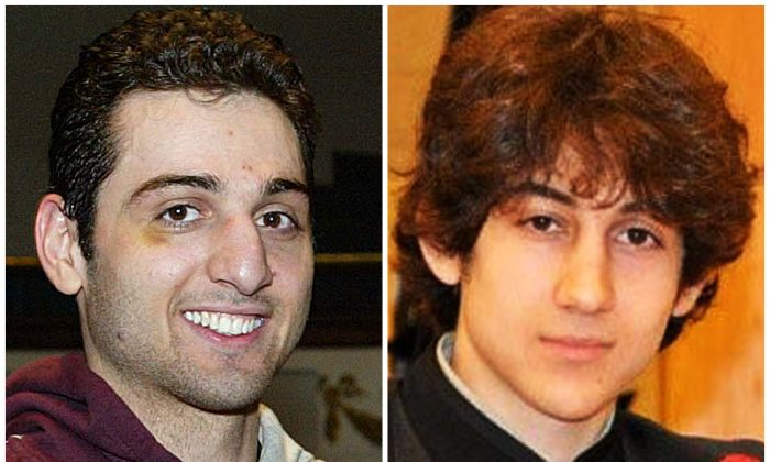 This combination of undated photos shows Tamerlan Tsarnaev, 26, left, and his brother Dzhokhar Tsarnaev, 19. (AP Photo/The Lowell Sun & Robin Young)