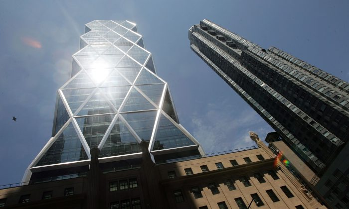 The new Hearst Tower in New York City in 2006. Hearst Corporation is defending itself in a Connecticut U.S. District Court against an allegation of defamation for its refusal to delete published articles about an arrest that has been cleared under the state's erasure statutes. (Photo by Mario Tama/Getty Images)