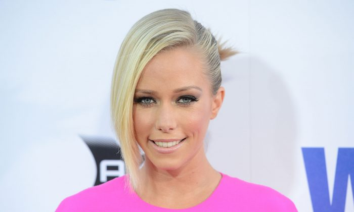 Kendra Wilkinson hospital: A July 23, 2012 file photo of actress Kendra Wilkinson, who went to the hospital after a car accident on April 21, 2013, but has since been released. (Jason Merritt/Getty Images)