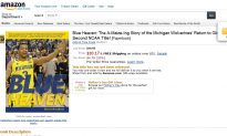 'Michigan Won Title' Ad Appears on Amazon