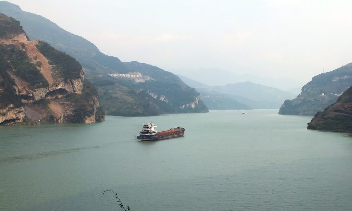 The Three Gorges reservoir area in Yichang, central China's Hubei Province on Oct. 30, 2012.  (STR/AFP/Getty Images)