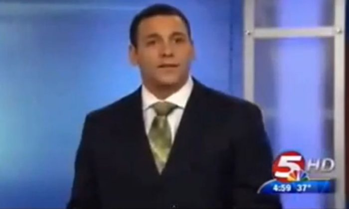 A. J. Clemente, the new news anchor who was fired. (Screenshot/NBC)