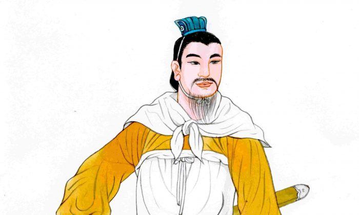 Han Xin, a rare and brilliant strategist from a poor family background, set a standard for virtue and loyalty. (Blue Hsiao/The Epoch Times)