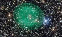Planetary Nebula Resembles Glowing Green Micro-organism