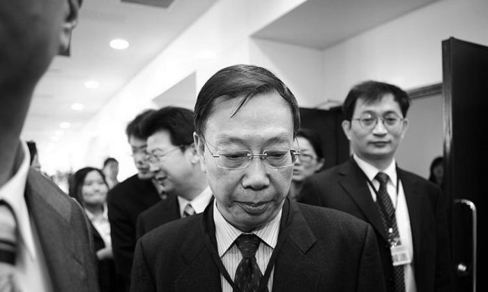 Chinese Vice Minister of Health Huang Jiefu after a conference in Taipei, Taiwan, in 2010. Huang has recently come under scrutiny for his involvement in and knowledge of illicit organ harvesting in China while vice-minister of health. (Bi-Long Song/Epoch Times)