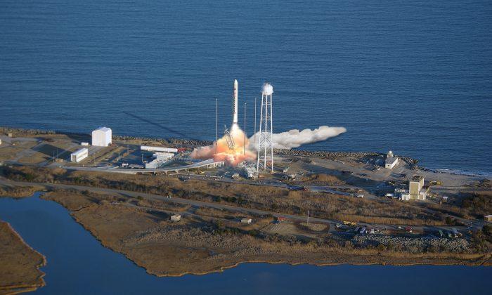 Artist rendering of a Antares Launch. (Orbital Sciences Corporation)