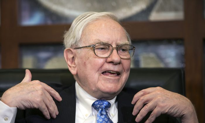 Berkshire Hathaway CEO and Chairman Warren Buffett speaks in Omaha, Neb., Monday, May 6, 2013. (AP Photo/Nati Harnik)