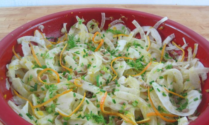 Fennel salad with a touch of refreshing lemon and orange flavours. (Maria Makyiku/The Epoch Times)