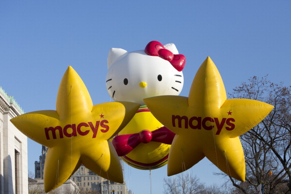 The Hello Kitty balloon travels Central Park West way during the 86th Annual Macy's Thanksgiving Day Parade November 22, 2012 in New York City. A helium shortage affects both balloons and industry. (Andrew Kelly/Getty Images)