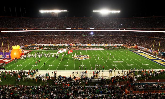 A general view of  the BCS National Championship game at Sun Life Stadium on January 7, 2013 in Miami Gardens, Florida. (Mike Ehrmann/Getty Images)