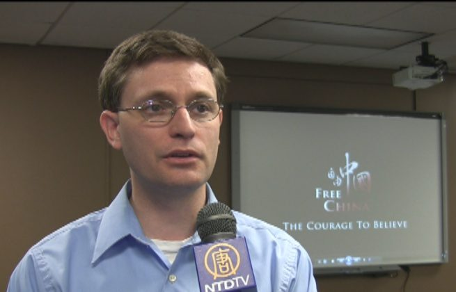 """Congressman Martin Howrylak (R-Mich.) attended a showing of """"Free China: The Courage to Believe,"""" on May 5, 2013. (The Epoch Times)"""