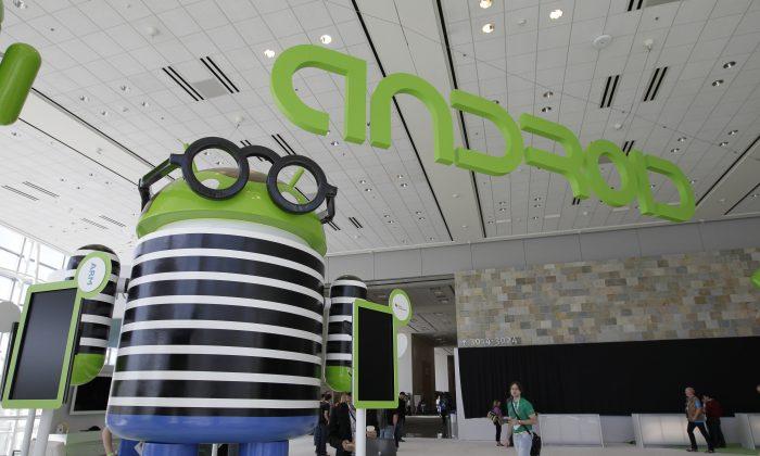 This June 27, 2012 file photo shows an Android display at the Google I/O conference in San Francisco. (Paul Sakuma/AP Photo)