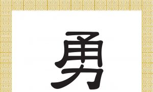 Chinese Character: Courage, Bravery (勇)