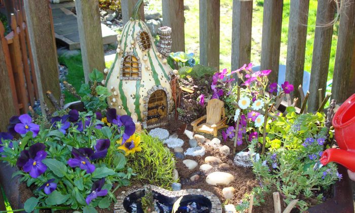 A whimsical fairy garden to delight adults as well as children. (The Epoch Times)