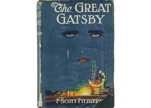 "This image released by Sotheby's auction house on Thursday May 23, 2013, shows a first edition of F. Scott Fitzgerald's masterpiece ""The Great Gatsby"". The 1925 novel, which tells the story of millionaire Jay Gatsby's passion for the effervescent Daisy Buchanan, has a pre-sale auction estimate from $100,000 to $150,000. (AP Photo/Sotheby's)"