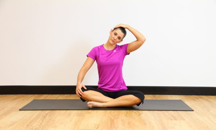 Neck stretches are easy yet highly effective in combating neck strain and tension. Regular stretching will revive your body and relax your mind. (Jocelyn Bong)