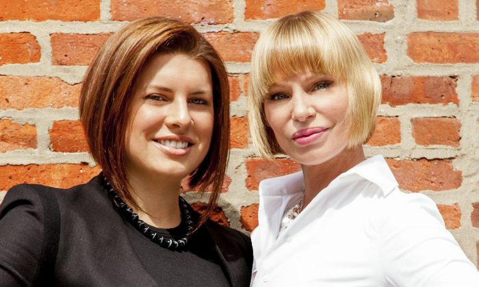 Stephanie O'Brien (R) and Jessica Peters (L) are a real estate broker team specializing in Brooklyn properties.