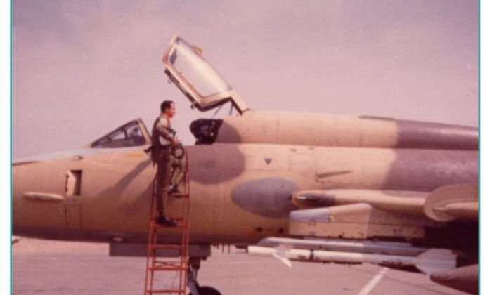 Col. Santa Maria Huerta with his Sukhoi 22 fighter jet. (Courtesy of Col. Santa Maria Huerta)