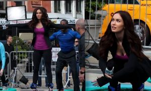 Megan Fox Trampoline Workout, Fit New Mom (+Video)