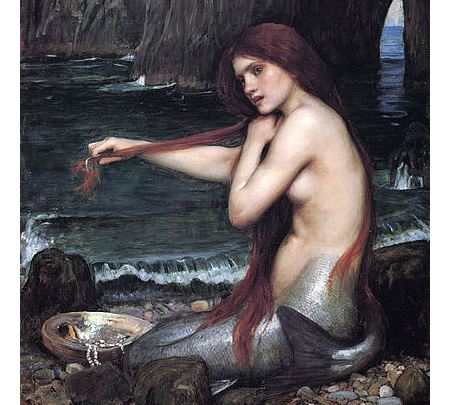 "A picture of ""A Mermaid"" by John William Waterhouse, painted in 1901. Many sightings of and experiences with mermaids and mermen include Christopher Columbus, William Shakespeare, and Pliny the Elder. (Public domain/Wikipaintings)"