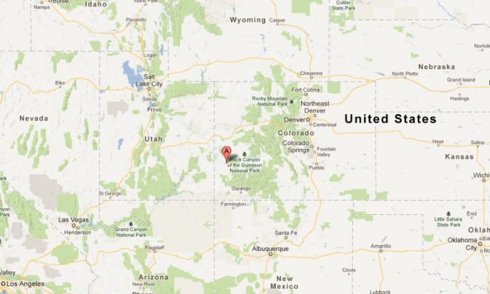 A Google Maps screenshot shows the town of Nucla in Colorado.