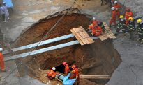 Sinkhole Kills 5 Factory Workers in South China