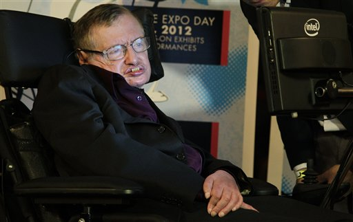 Physicist and best-selling author Stephen Hawking in Seattle in a file photo. Hawking will boycott a conference in Israel. (AP Photo/Ted S. Warren)